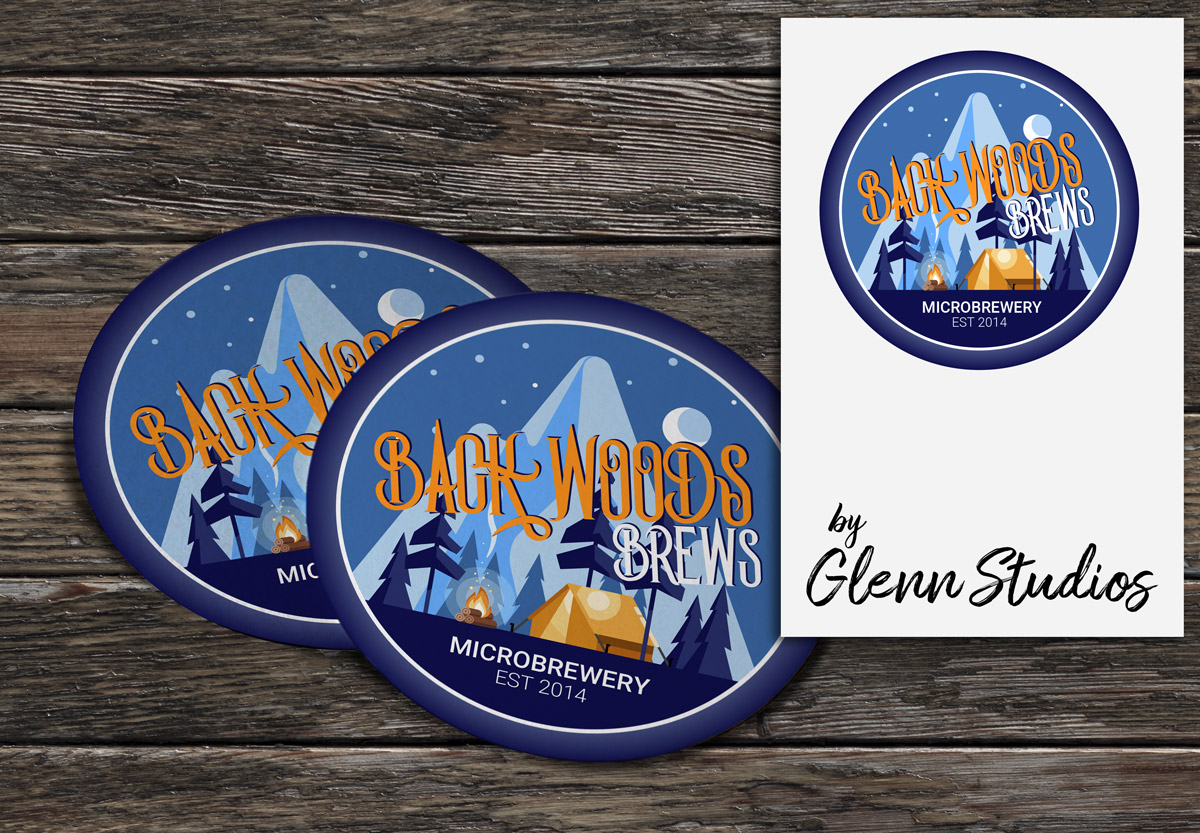 back-woods-brews-coaster-design